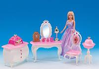 Мебель для кукол Комната принцессы: туалетный столик, комод