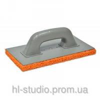 Терка FAVORIT пластмассовая с оранжевой губкой 130*270мм 07-206