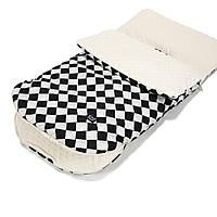 La Millou - конверт в коляску Follow Me - Chessboard Ecru