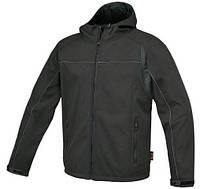 Куртка черная 7680n `softshell` с капюшоном - размер xxl BETA