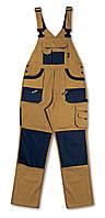Полукомбинезон из ткани т/с 210г, вставки oxford, коричневый 7803 – размер l BETA
