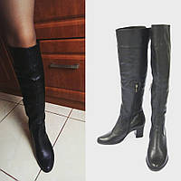 Ботфорты женские кожаные / Women's over-the-knee boots leather