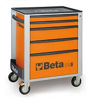 Тележка для инструмента, 5-ящиков, цвет оранжевый/2400c24s5o BETA