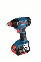 Аккумуляторный шуруповерт ударного-вращения gdx 18 v-li 2x4,0ah professional BOSCH