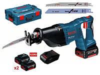 Пила сабельная Bosch gsa18v-li 2 x 4,0 ah + l-boxx