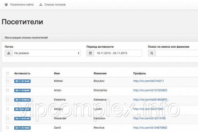Установим скрипт идентификации посетителей их аккаунтов ВК