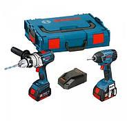 Зарядное устройство и аккумулятор 18 В gsr18 В e-2-li + gdr18 В -li, l-boxx BOSCH