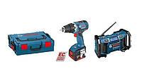 Дрель-шуруповерт Bosch gsr14,4v-ec 46нм 2 x 4,0 ah радио gмл и l-boxx