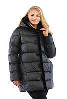 Модная зимняя куртка-пуховик 2017 с натуральным мехом норки (рр 44-56)