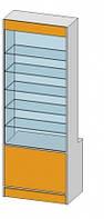 Прямая витрина (800х500х2600мм) ДСП
