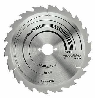 Пильный диск speed 210x2,6x30x30z BOSCH