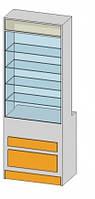 Прямая витрина (800х500х2184мм) ДСП