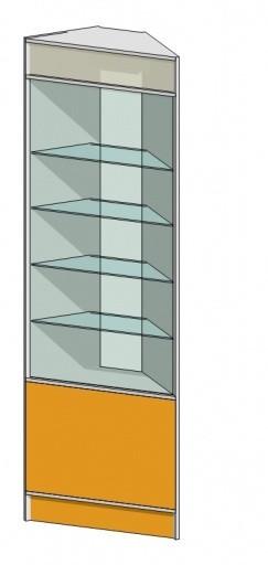 Трапециевидная витрина (350х350х2184мм) ДСП