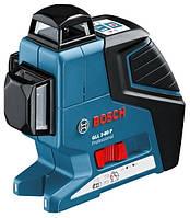 Линейный лазерный нивелир гсч 3-80 + держатель bm1 + чемодан BOSCH