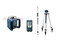 Вращающийся лазер grl 400h + штатив bt170 + патч gr240 + приемник lr1 BOSCH