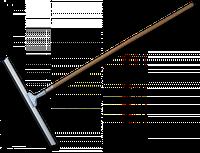 Скребок для воды с полов, 60 см с деревянным стержнем Bradas