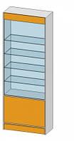Прямая витрина (800х350х2184мм) ДСП