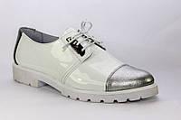 Туфли дерби женские кожаные / Women's Derby shoes leather