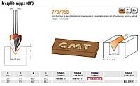 Фреза CMT точная / для букв 60st. hm d=12,7 и=11 а=60 s=8 для гравировки