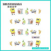 Слайдер дизайн для ногтей Мультяшки, Губка Боб, Sponge Bob