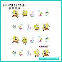 Слайдер дизайн для ногтей Мультяшки, Губка Боб, Sponge Bob, звездочки