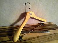 Деревянная вешалка - 44см,  для тяжелой верхней одежды