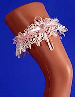 """Подвязка для невесты на свадьбу """"Нежность розовая"""""""