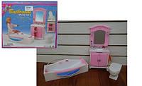 Мебель для кукол Ванная комната: джакузи, шкаф, туалет
