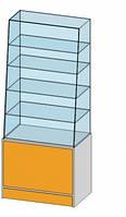 Прямая витрина (800х500х1800мм) ДСП