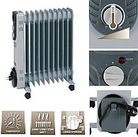 Радиатор масляный Einhell г-1125/1 11-ребер 1000/1500/2500Вт термостат
