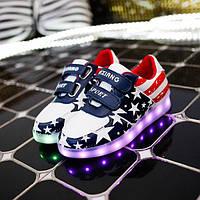 Кроссовки детские LED USA D927 разноцветные