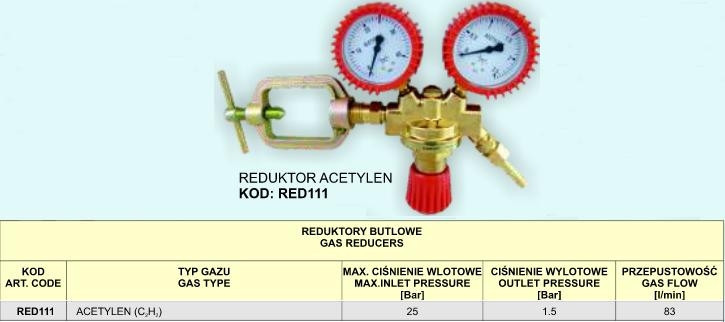 Редуктор ацетилен red111