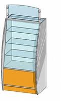 Прямая витрина (800х600х1542мм) ДСП