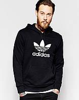 Худи Adidas ( Адидас )  | Мужская толстовка  | Кенгурушка - большой принт