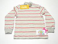 Детский хлопковый гольф (серо-розовый)