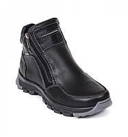 Ботинки зимние кожаные мужские Bastion 070 черного цвета классического стиля