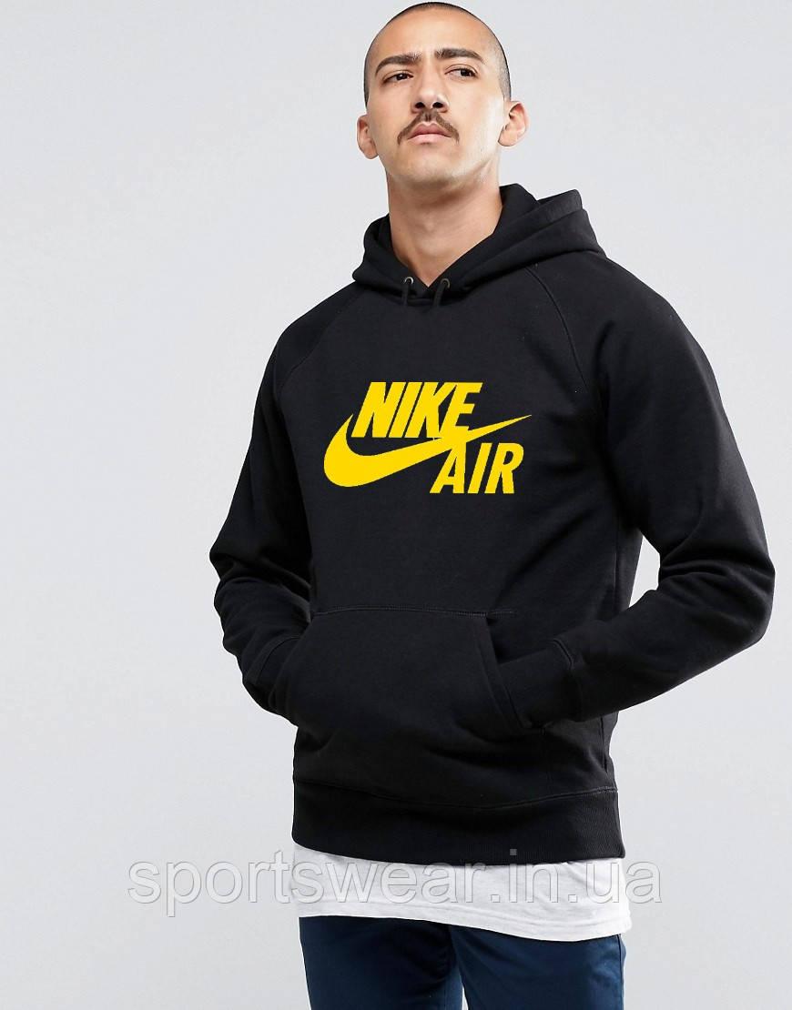 df7cd88c Худи Nike ( Найк ) AIR | Мужская толстовка | Кенгурушка чёрная