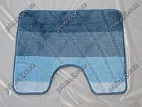 "Коврик для туалета 60х50 см ""Тихий океан"" с вырезом, цвет синий"