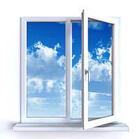 Металлопластиковое окно Millenium 1200*1500, 3-камерное, бюджетный вариант