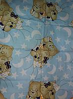 """Детское постельное белье """"Мишки спят"""" голубой, комплект 9 предметов!"""
