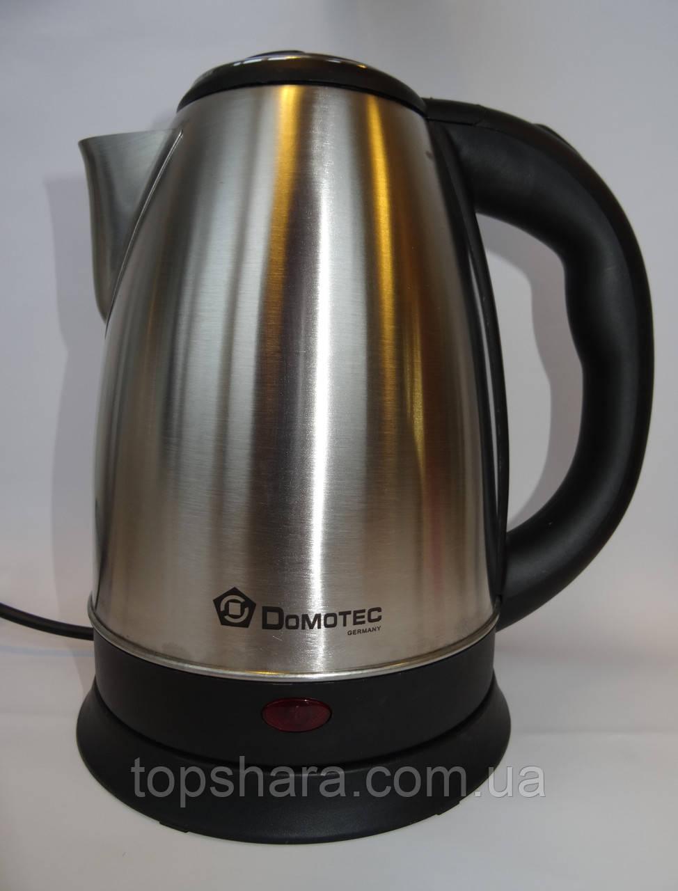 Электрочайник DOMOTEС DT-803 чайник 2.0л. нержавейка