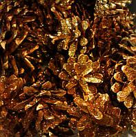 Шишка натуральная золото