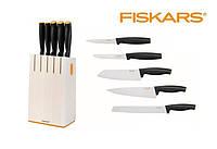 Набор из 5 ножей в белом блока Functional Form Fiskars