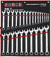 Ключи кольцевые, комплект Force 24шт. (6-32мм) FORCE