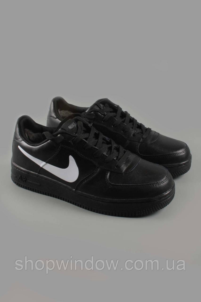 78fdfebe0 Кроссовки Nike Air Force 1 low черные с мехом. Кроссовки зимние. Кроссовки  Nike.