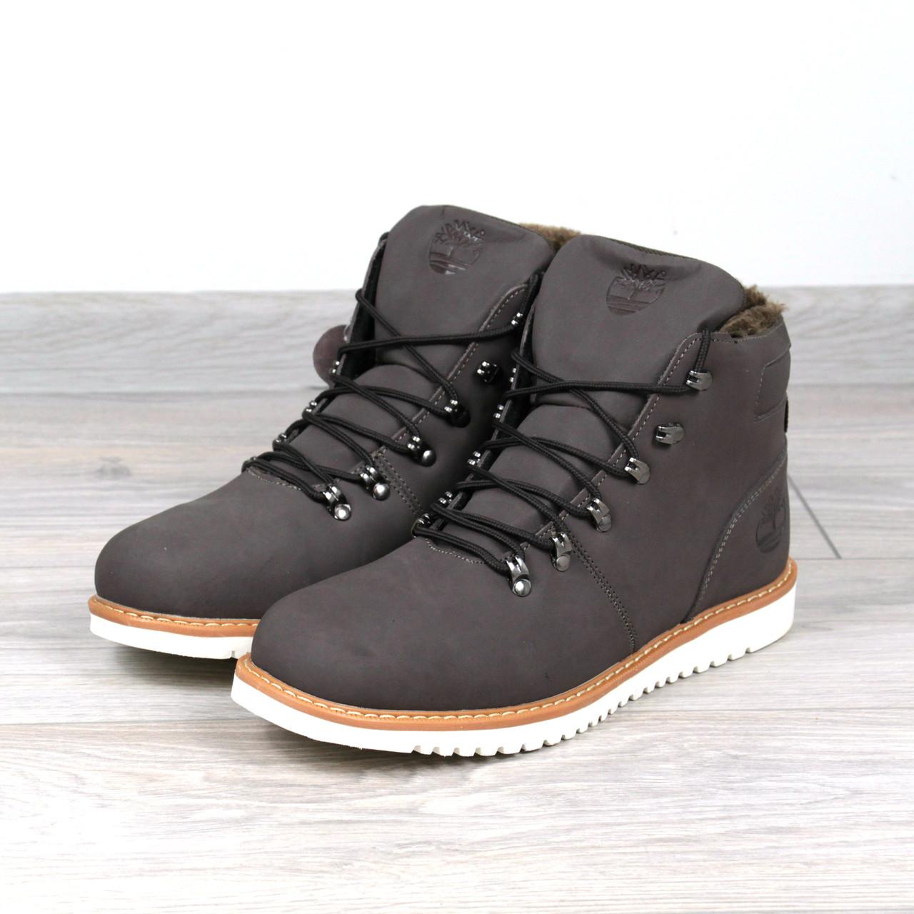 Ботинки Мужские зимние Timberland коричневые мех, зимняя обувь - Интернет- магазин