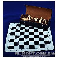 Шахматы в футляре (деревянные фигуры) 19*7*5см (130шт)