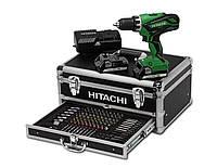 Дрель-шуруповерт ударная 18 В 2 x 1,5 53нм dv18djl wk + чемодан + аксессуары 100шт. Hitachi