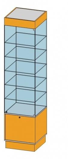 4-х Сторонняя витрина в зал(500х500х2184мм) ДСП