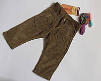 Вельветовые коричневые брюки